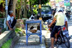 2009.10.10, Ubud, Bali. Ethnic people of Indonesia. Travel around Bali. royalty free stock photography