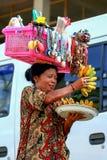 2009 10 07 Ubud, Bali Funktionsdugligt folk i Ubud Lopp runt om Bali royaltyfri foto