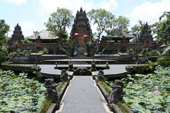 Ubud Bali Indonésie de temple de Saraswati image libre de droits