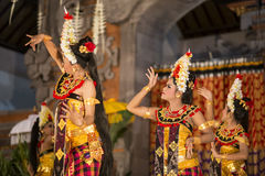 UBUD, BALI, INDONESIA - April, 07: Traditional Balinese dance. Stock Image