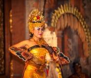 UBUD, BALI, INDONESIA - August, 07: Legong traditional Balinese. UBUD, BALI, INDONESIA - August, 07: Legong beautiful traditional Balinese dance in Ubud, Bali Royalty Free Stock Photo