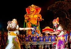 Celebraciones del Año Nuevo del Balinese Imagenes de archivo