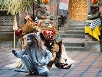 Demostración clásica tradicional del teatro de Barong en Bali Fotos de archivo libres de regalías