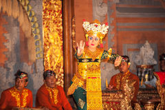 UBUD, BALI, INDONESIA: Legong traditional Balinese Royalty Free Stock Photos