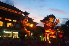 Nuovo anno sull'isola di Bali Fotografia Stock