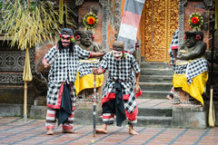 Traditional classical Barong theatre show on Bali Stock Image
