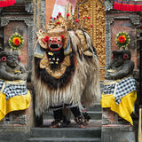 Tradycyjny klasyczny Barong theatre przedstawienie na Bali obrazy stock