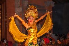 UBUD, BALI INDONEZJA, Sierpień, -, 07: Legong tradycyjny balijczyk Zdjęcia Royalty Free
