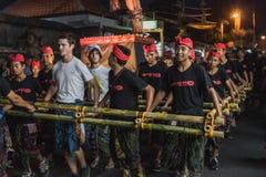 UBUD, BALI - 8. MÄRZ: Nicht identifizierte Leute während der Feier Lizenzfreie Stockfotos