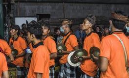 UBUD, BALI - 8. MÄRZ: Nicht identifizierte Leute während der Feier Lizenzfreies Stockfoto