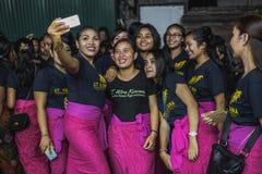 UBUD, BALI - 8. MÄRZ: Nicht identifizierte Leute während der Feier Lizenzfreies Stockbild