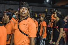 UBUD, BALI - 8. MÄRZ: Nicht identifizierte Leute während der Feier Stockbilder