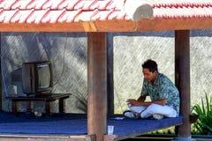 2009 10 07, Ubud, Bali Pracujący ludzi w Ubud Podróż wokoło Bali obraz royalty free