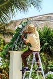 2009.10.07, Ubud, Bali. Working people in Ubud. Travel around Bali. stock photography
