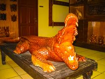 Ubud, Indonesia - April 12, 2012: Carved wooden animal statues in shop. Ubud, Indonesia - April 12, 2012: Carved wooden animal statue in shop at Ubud, Indonesia Stock Image
