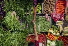 Ubud, mercato pubblico tradizionale di Bali Fotografie Stock Libere da Diritti