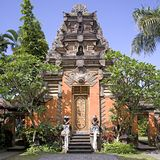 Ubud palace. Gates at Ubud Palace, Bali, Indonesia Stock Photos