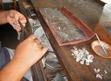 Ubud silversmeder Bali 01 Royaltyfri Foto