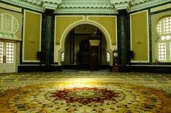 Ubudiah清真寺内部瓜拉江沙县的,霹雳州,马来西亚 免版税库存图片