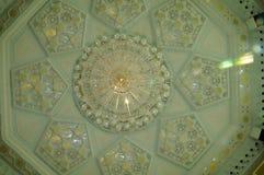 Ubudiah清真寺内部瓜拉江沙县的,霹雳州,马来西亚 库存图片