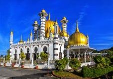 Ubudiah清真寺在瓜拉江沙县,马来西亚 免版税库存图片