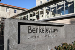 UC Berkeley Law School Royalty-vrije Stock Foto's