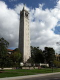 UC Berkeley Tower. Whites, Blues, and Greens Stock Photography