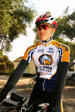 UC Davis Cyclist Royalty Free Stock Photos