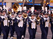 UC Davis marching band at the Chinese Parade 2018 San Francisco Royalty Free Stock Photos