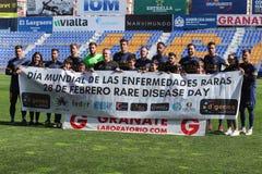 UCAM Murcia C f und AlmerÃa B lizenzfreie stockbilder