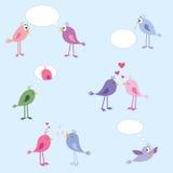 Uccelli - amore, datazione, rapporti illustrazione di stock