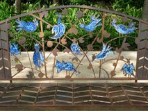 Uccelli blu Immagini Stock