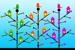 Uccelli dell'albero Fotografia Stock