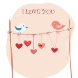 Uccelli di amore Immagini Stock Libere da Diritti
