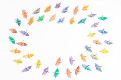 Uccelli di carta variopinti Fotografia Stock Libera da Diritti