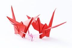 Uccelli di carta variopinti di origami Immagini Stock