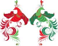 Uccelli di fantasia Immagini Stock