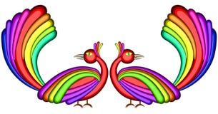 Uccelli di gioia Fotografia Stock