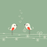 Uccelli di Natale Immagini Stock