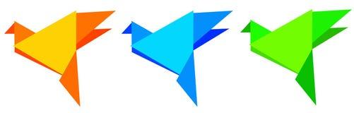 Uccelli di Origami Fotografie Stock Libere da Diritti