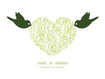 Uccelli di struttura di turbinii dell'estratto di vettore che tengono cuore Fotografia Stock Libera da Diritti