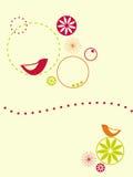 Uccelli e cerchi illustrazione vettoriale