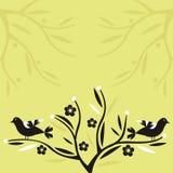 Uccelli e fiori Fotografie Stock