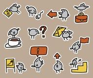 Uccelli ed insieme dell'icona di affari royalty illustrazione gratis