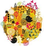 Uccelli, fiori e l'altra natura. Fotografia Stock Libera da Diritti