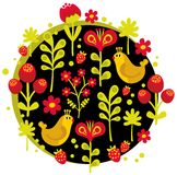 Uccelli, fiori e l'altra natura. Immagine Stock Libera da Diritti