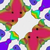 Uccelli i colori degli uccelli Fumetto felice illustrazione vettoriale