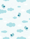 Uccelli nel cielo illustrazione vettoriale