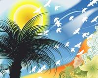 Uccelli nel cielo Immagine Stock
