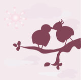 Uccelli nell'amore royalty illustrazione gratis